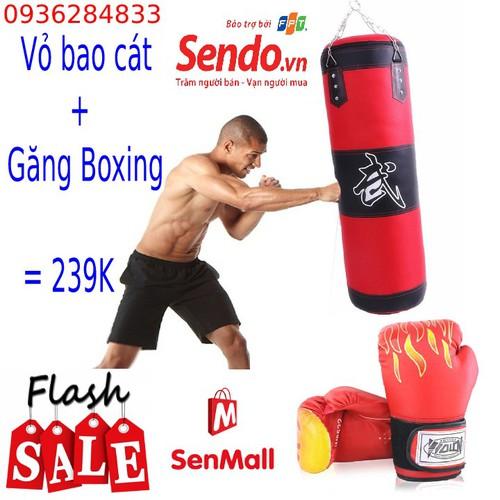 Găng tay boxing - găng tay boxing - găng tay boxing - găng tay boxing tặng vỏ bao cát
