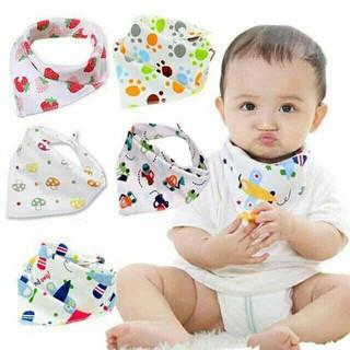 Set 10 khăn yếm chéo có cúc bấm cho bé - s10kycb thumbnail