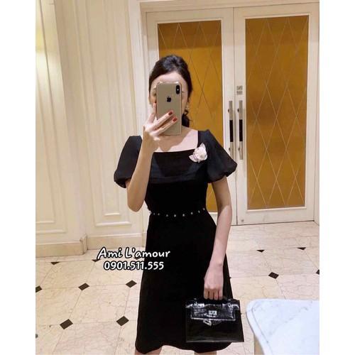Đầm xoè đen kết ngọc