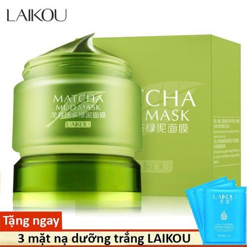 [Tặng 3 mặt nạ] combo 3 mặt nạ bùn trà xanh laikou sáng da ngăn ngừa lão hóa mặt nạ rửa mặt nạ nội địa trung