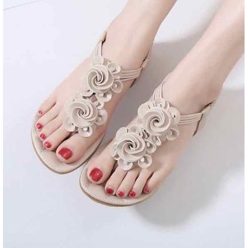 Giày sandal kết hoa cao cấp