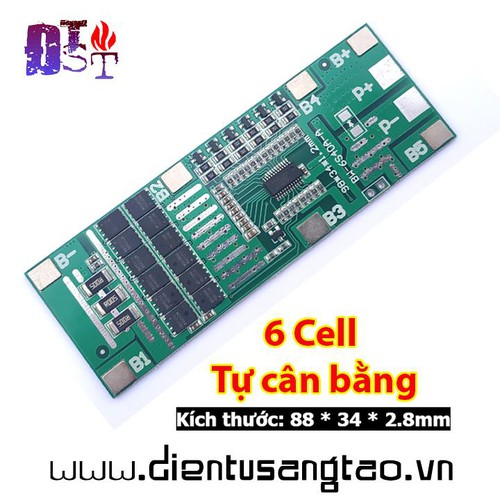 Mạch sạc xả bảo vệ pin lithium 6 cell 3,7v 40a tự cân bằng - 13055620 , 21091685 , 15_21091685 , 120000 , Mach-sac-xa-bao-ve-pin-lithium-6-cell-37v-40a-tu-can-bang-15_21091685 , sendo.vn , Mạch sạc xả bảo vệ pin lithium 6 cell 3,7v 40a tự cân bằng