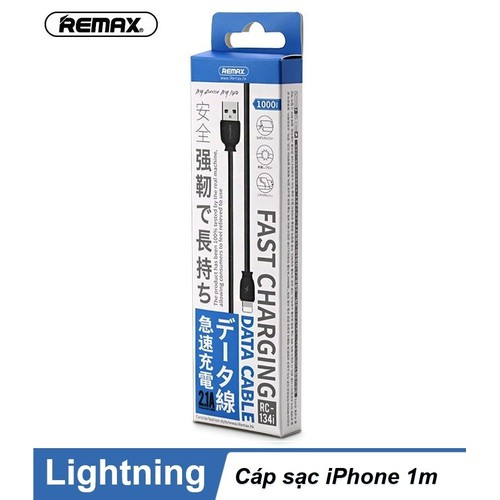 Cáp sạc remax  lightning  1m  điện thoại  iphon