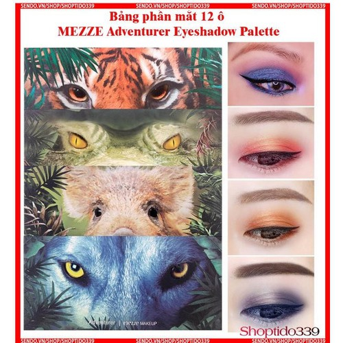 Bảng phấn mắt 12 ô mezze adventurer eyeshadow palette chính hãng mezze nội địa trung mz4333