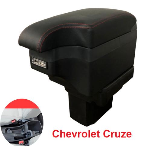 Hộp tỳ tay ô tô cao cấp Chevrolet Cruze tích hợp 6 cổng USB: Màu Đen và Be