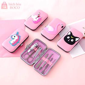 Bộ kềm cắt móng 7 món màu hồng xinh xắn - TH0309