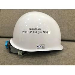 Giảm giá nón bảo hộ Hàn Quốc COV HF007 màu trắng, bảo vệ đầu, chống va đập- Hình thật, có sẵn