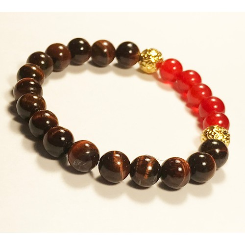 Vòng tay nữ giá rẻ đá mắt hổ Nâu Đỏ mix 5 Thạch anh đỏ kim tiền vàng vòng đeo tay handmade bằng đá phong thủy hợp mệnh thời trang đẹp nhất - 11641521 , 21096922 , 15_21096922 , 445000 , Vong-tay-nu-gia-re-da-mat-ho-Nau-Do-mix-5-Thach-anh-do-kim-tien-vang-vong-deo-tay-handmade-bang-da-phong-thuy-hop-menh-thoi-trang-dep-nhat-15_21096922 , sendo.vn , Vòng tay nữ giá rẻ đá mắt hổ Nâu Đỏ mix 5