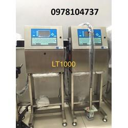 Máy in phun date điện tử tự động, máy in date lên chai nước suối, chai tương ớt, tương cà, chai nước mắm tự động
