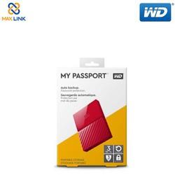 Ổ CỨNG DI ĐỘNG WD MY PASSPORT 3TB – 2.5inch USB 3.0 – ĐỎ