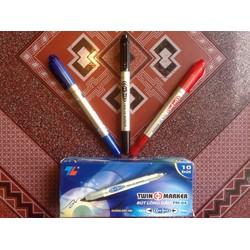 Hộp 10 Bút dạ kính Thiên Long PM04 - Bút ghi đĩa CD - Bút lông đầu Thiên Long