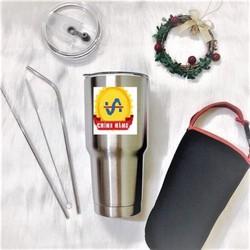 Ly giữ nhiệt- Bình Giữ Nhiệt Thái Lan YETI 900ml cao cấp - Tặng COMBO Ống hút Inox và túi -LGN000122