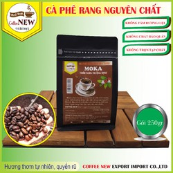 MOKA Cầu Đất - Gói 250gr - Thơm Thanh Thoát, Màu Nước Nhạt, Thể Chất Nhẹ,  Vị Chua Thanh - Rang Mộc Nguyên Chất Dạng Bột Pha Phin - Coffee New