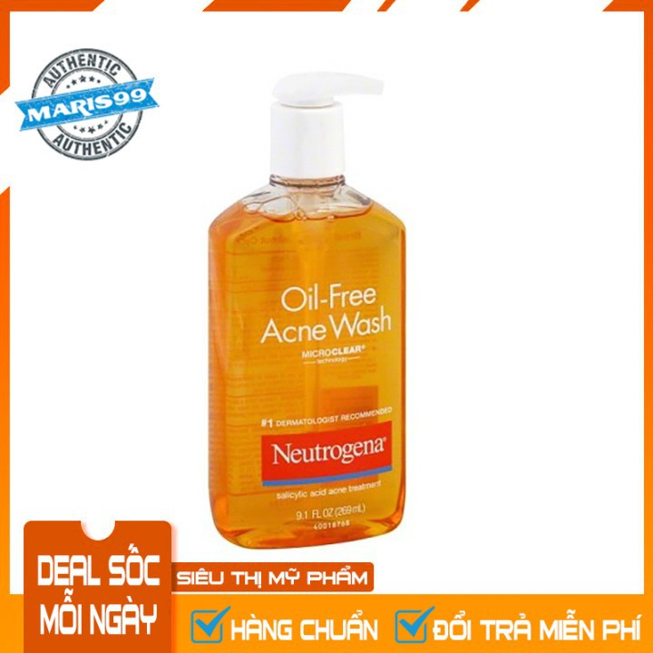 Sữa Rữa Mặt Neutrogena Oil Free Acne Wash (269ml) - 100% Authentic