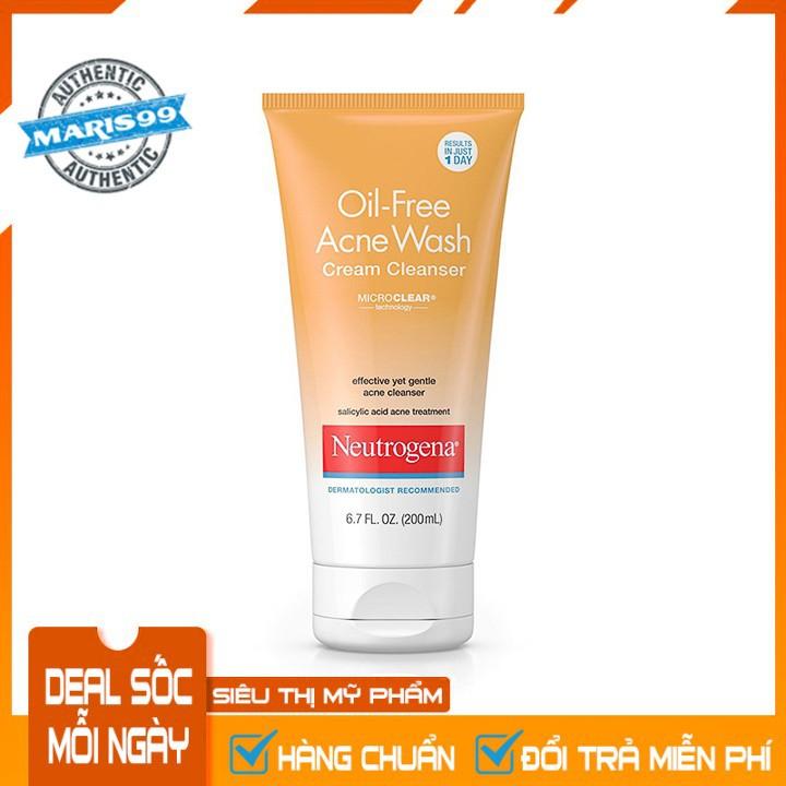 Sữa Rữa Mặt Neutrogena Oil Free Acne Wash Cream Cleanser (200ml) - 100% Authentic