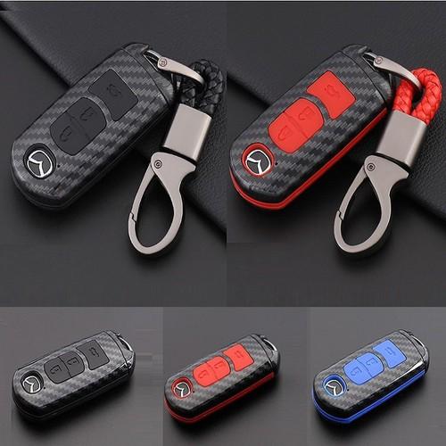 Ốp nhựa carbon, bọc bảo vệ chìa khóa xe Mazda 2, 3, 6, CX-5 kèm móc đeo INOX - 11381871 , 21102953 , 15_21102953 , 260000 , Op-nhua-carbon-boc-bao-ve-chia-khoa-xe-Mazda-2-3-6-CX-5-kem-moc-deo-INOX-15_21102953 , sendo.vn , Ốp nhựa carbon, bọc bảo vệ chìa khóa xe Mazda 2, 3, 6, CX-5 kèm móc đeo INOX