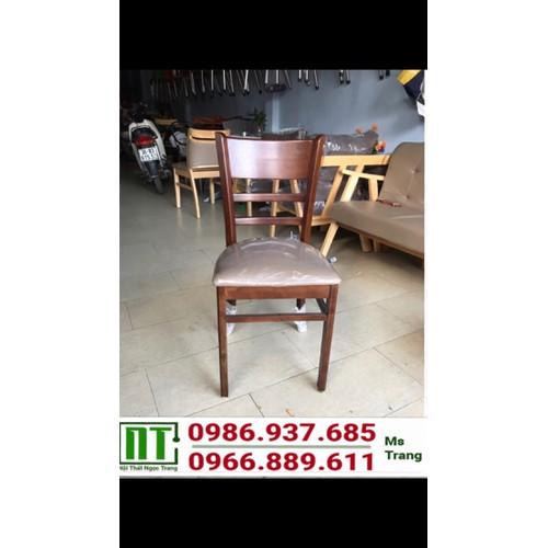 Ghế gỗ bọc nệm thanh lý