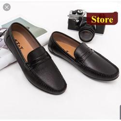 Giày lười DA BÒ, đế cao su khâu chắc chắn số 38 -43 . bh 1 năm cho khách mua