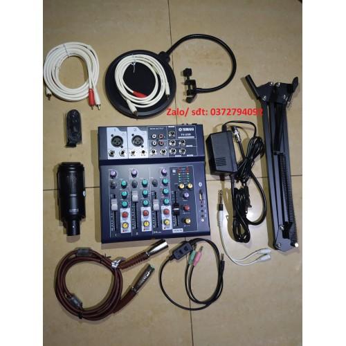 Combo bộ mic thu âm takstar pck-320 và mixer f4 yamaha đầy đủ phụ kiện
