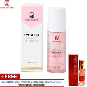 Laura Sunshine Eye and Lip Make Up Remover - Tẩy trang mắt môi 100ml + Quà Tặng - NKA-TTMM300