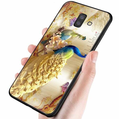 Ốp kính cường lực cho điện thoại Samsung Galaxy J8 - hình Điêu Khắc MS DKHAC016
