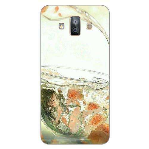 Ốp lưng cứng viền dẻo dành cho điện thoại Samsung Galaxy J7 Duo - Cô Bé Trong Chiếc Lọ Thủy MS CBTCL023