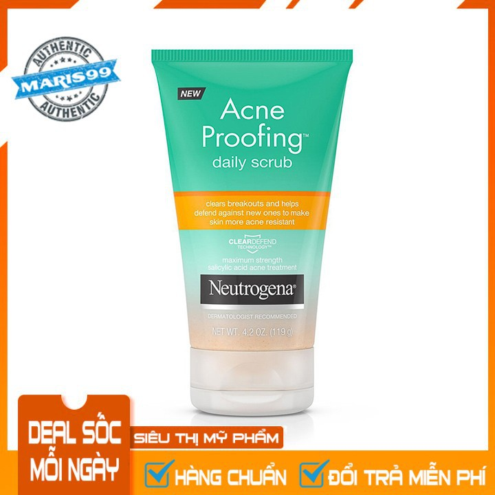 Sữa Rửa Mặt Neutrogena Acne Proofing Daily Scrub (119g) - 100% Authentic