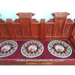 Bộ Thảm trải ghế gỗ Hoàng gia cao cấp