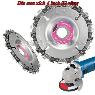 Lưỡi cưa xích tròn CAO CẤP 4 inch gắn máy mài cầm tay 22 răng - DCX thumbnail