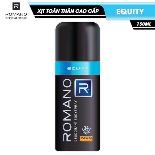 Xịt toàn thân cao cấp romano equity lịch lãm nam tính ngăn mồ hôi & mùi cơ thể 150ml - 12477944 , 21133781 , 15_21133781 , 90000 , Xit-toan-than-cao-cap-romano-equity-lich-lam-nam-tinh-ngan-mo-hoi-mui-co-the-150ml-15_21133781 , sendo.vn , Xịt toàn thân cao cấp romano equity lịch lãm nam tính ngăn mồ hôi & mùi cơ thể 150ml