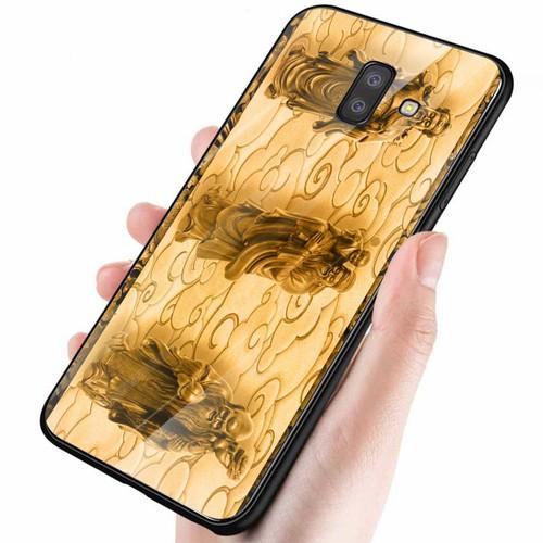 Ốp kính cường lực cho điện thoại Samsung Galaxy J6 - hình Điêu Khắc MS DKHAC019