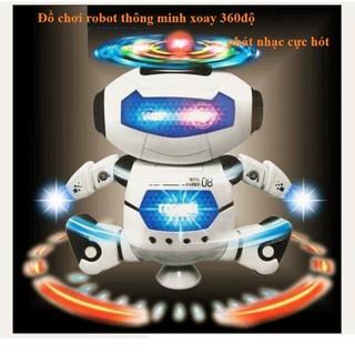 Đồ chơi robot thông minh xoay 360độ - phát nhạc cực hót - lza845 thumbnail