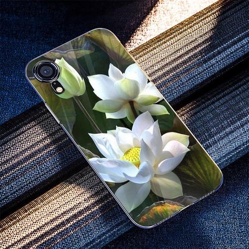 Ốp kính cường lực cho điện thoại iPhone XR - Đủ nắng thì hoa nở MS DNTHN025