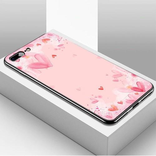 Ốp điện thoại iphone 7 plus  -  8 plus - trái tim tình yêu ms love032