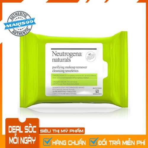 Khăn ướt tẩy trang neutrogena naturals purifying makeup remover cleansing towelettes - 12478465 , 21151384 , 15_21151384 , 180000 , Khan-uot-tay-trang-neutrogena-naturals-purifying-makeup-remover-cleansing-towelettes-15_21151384 , sendo.vn , Khăn ướt tẩy trang neutrogena naturals purifying makeup remover cleansing towelettes