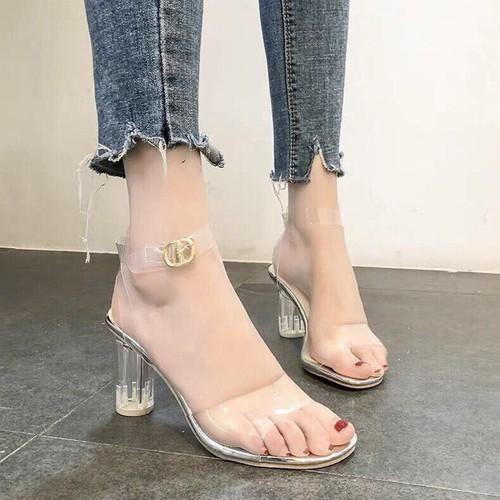 Giày sandal cao gót nữ trong suốt đế tròn 7cm - 13079011 , 21123430 , 15_21123430 , 220000 , Giay-sandal-cao-got-nu-trong-suot-de-tron-7cm-15_21123430 , sendo.vn , Giày sandal cao gót nữ trong suốt đế tròn 7cm
