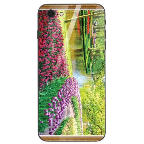 Ốp kính cường lực cho điện thoại iphone 6 plus - 6s plus - vườn hoa ms vhoa058