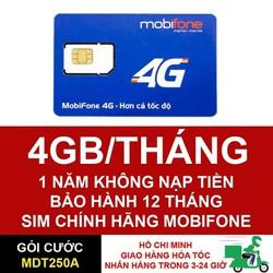 Sim Điện Thoại 4G Mobifone tốc độ cao, dung lượng lớn dùng mạng miễn phí