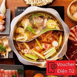 [Voucher Điện Tử] Buffet Lẩu Chỉ 159k Tại Rakuen Hotpot