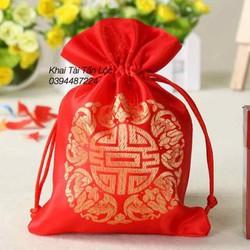 Túi gấm Thượng Hải đựng trang sức màu đỏ