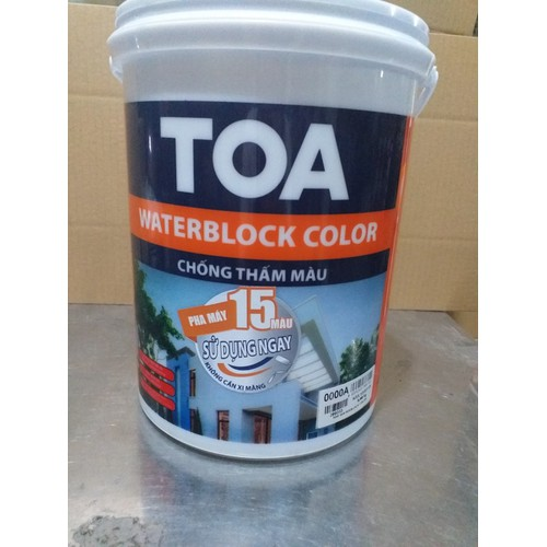 Chống thấm màu Toa cho tường thay hồ dầu tông màu xám 6kg