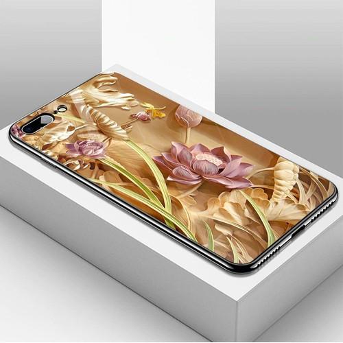 Ốp kính cường lực cho điện thoại iPhone 7 Plus  -  8 Plus - hình Điêu Khắc MS DKHAC006