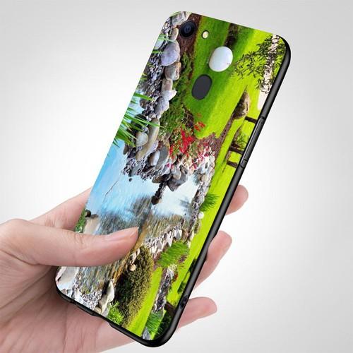 Ốp kính cường lực cho điện thoại Oppo A79 - Vườn Hoa MS VHOA026