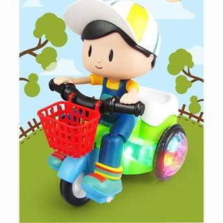 Đồ chơi bé lái xe đạp có nhạc và bánh xe phát sáng- đồ chơi phát nhạc - BDCPN-1 thumbnail