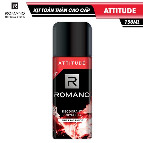Xịt toàn thân cao cấp romano attitude nồng ấm cá tính ngăn mồ hôi & mùi cơ thể 150ml - 13086777 , 21134071 , 15_21134071 , 90000 , Xit-toan-than-cao-cap-romano-attitude-nong-am-ca-tinh-ngan-mo-hoi-mui-co-the-150ml-15_21134071 , sendo.vn , Xịt toàn thân cao cấp romano attitude nồng ấm cá tính ngăn mồ hôi & mùi cơ thể 150ml