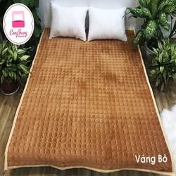 Thảm trải giường nỉ nhung một màu 1m6x2m - 1m8x2m