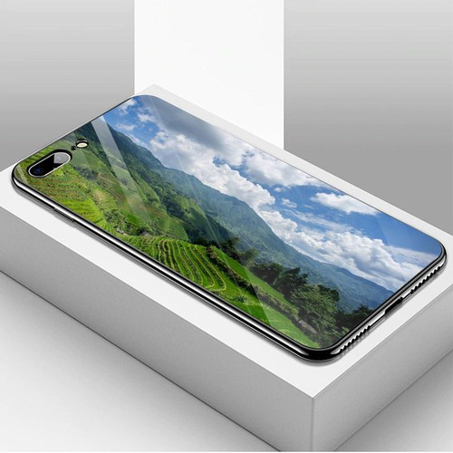 Ốp điện thoại kính cường lực cho máy iphone 7 plus  -  8 plus - quê hương ms qhuong019