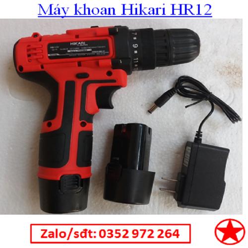 Máy khoan vặn vít hikari 12v