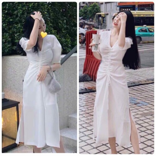 Đầm trắng nhíu thân