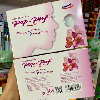 Combo 2 Hộp Bông tẩy trang Pop-Puf Trang điểm + tẩy trang 100 Miếng-Hộp - Thanh Loan - 2HOPBONGTAYTRANGPOPPUFMPTL thumbnail